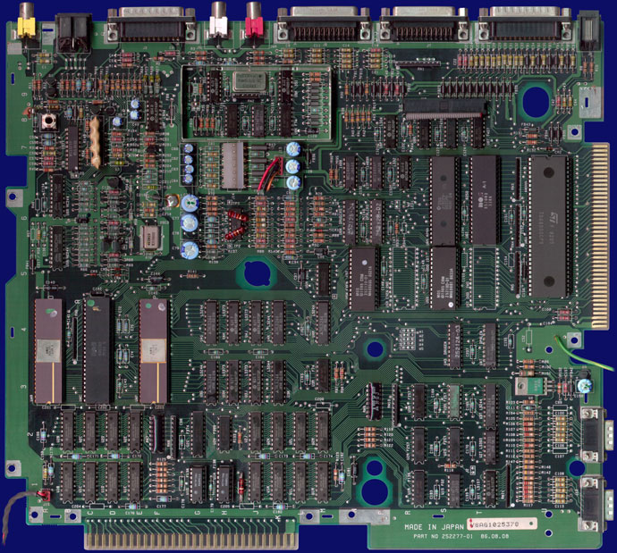 Commodore Amiga 1000 - PAL motherboard, front side