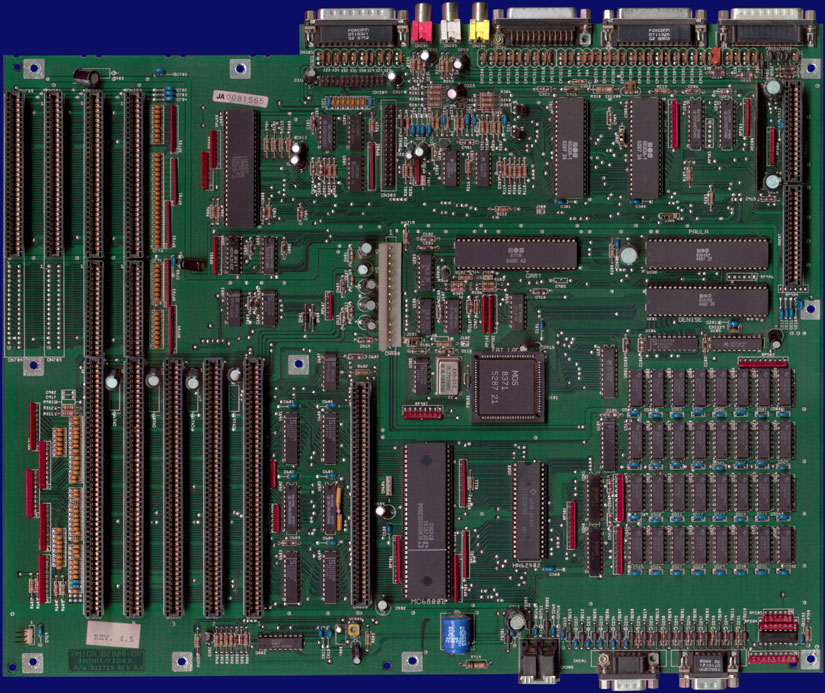 Commodore Amiga 2000 - Rev 4.5 motherboard, front side