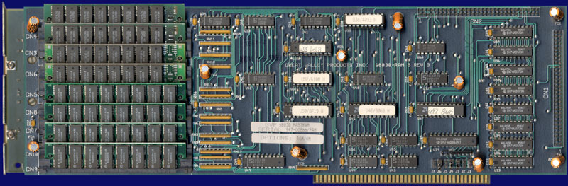 Great Valley Products A3001 (Impact A2000-030) - Series I with RAM8 board, back side