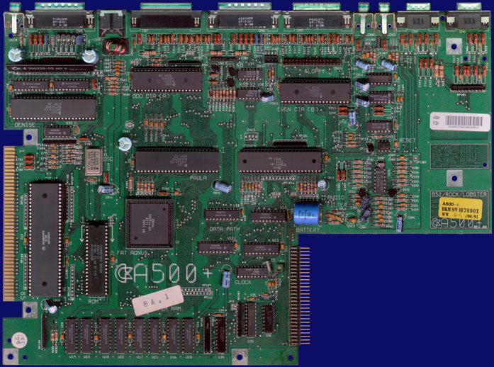 Commodore Amiga 500 & 500+ - Rev 8A motherboard (A500+), front side