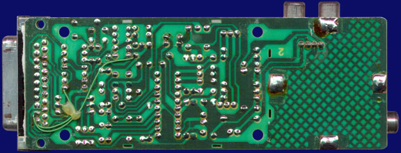 Commodore A520 - PCB, back side