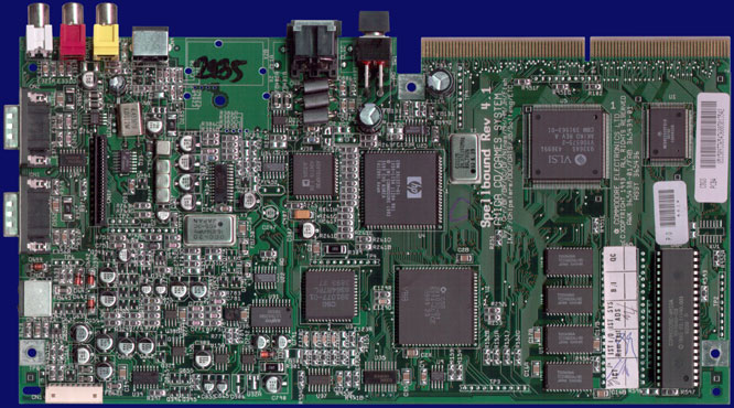 Commodore CD32 - Rev 4.1 motherboard, front side