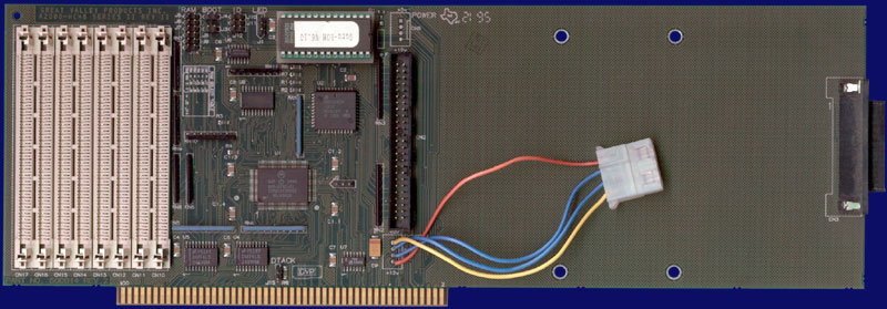 Great Valley Products Impact A2000-HC+8 Series II - Rev II with RAM and Guru-ROM installed, front side