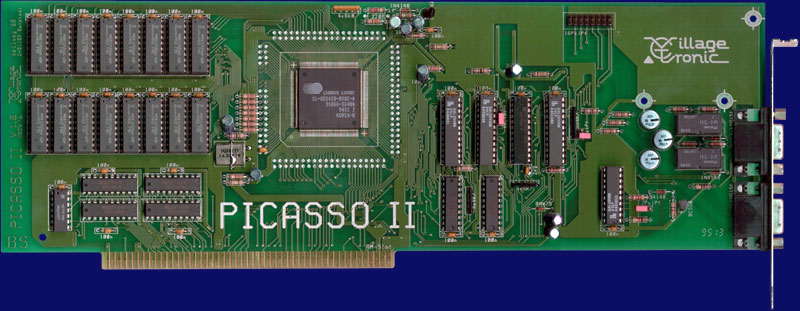 Village Tronic Picasso II - Rev 1.6, front side