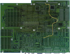 Commodore Amiga 3000T - Rev 6.1 motherboard  back side