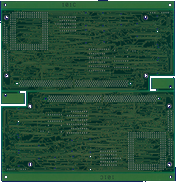 Commodore A3640 - blank PCB back side