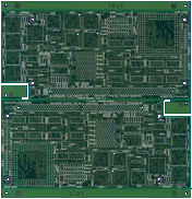 Commodore A3640 - blank PCB front side