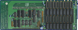 Kupke Golem SCSI II (A500) - Memory daughterboard front side