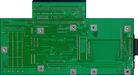 Great Valley Products Impact A500 HD8+ Series II - PCB Rev 3 back side
