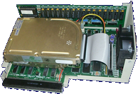 Great Valley Products Impact A500-SCSI - Case opened right side