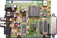 Rombo Productions Vidi Amiga 12 RT / 24 RT - Main board front side